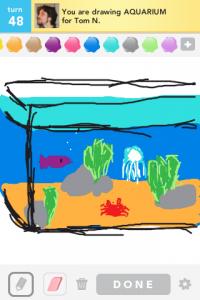 2012 04Apr 17 E Draw something!  - Aquarium