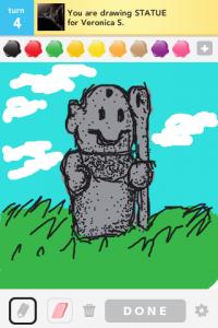 2012 04Apr 18 A Draw something!  - Statue