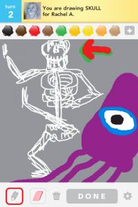 2012 04Apr 22 D Draw something!  - Skull