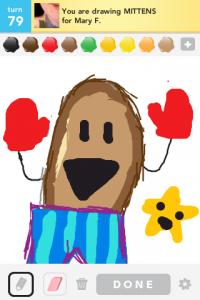 2012 04Apr 27 A Draw something!  - Mittens