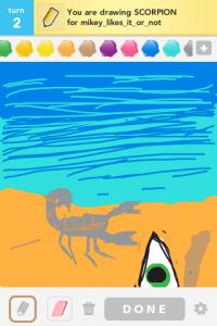 2012 04Apr 7 B Draw something! - Scorpion