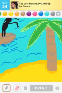 2012 04Apr 7 C Draw something! - Palmtree