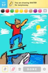 2012 04Apr 8 J Draw something! - Skater