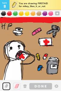 2012 04Apr 8 L Draw something! - Firstaid