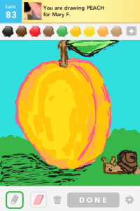 2012 05May 1 D Draw something! - Peach