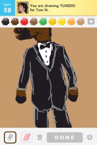 2012 05May 9 Draw something! - Tuxedo