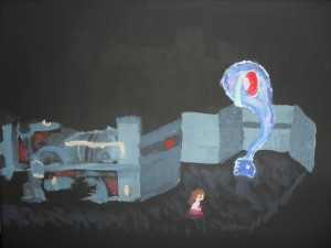 Yume Nikki foot in Mars with Madotsuki